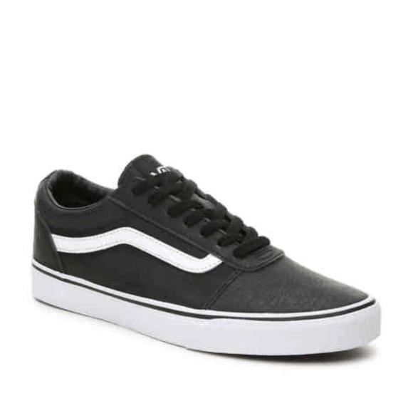 961a2979bbe903 Van s Men s Ward Low Black Leather Skate Shoe NWT